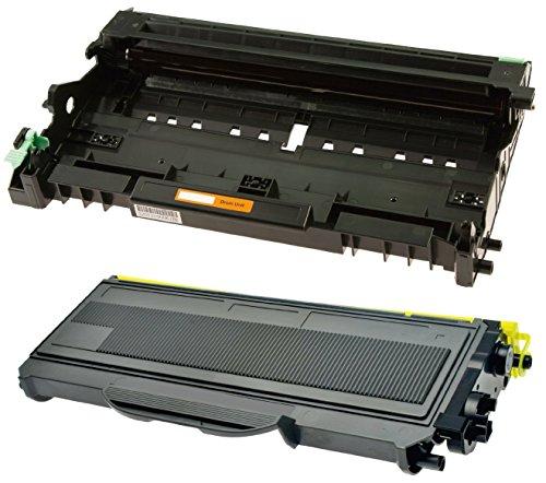 Compatibile DR2100 Tamburo & TN2120 Toner per Brother DCP-7030 DCP-7040 DCP-7045N HL-2140 HL-2150 HL-2150N HL-2170 HL-2170W MFC-7320 MFC-7340 MFC-7345DN MFC-7440N MFC-7840W - Nero, Alta Resa