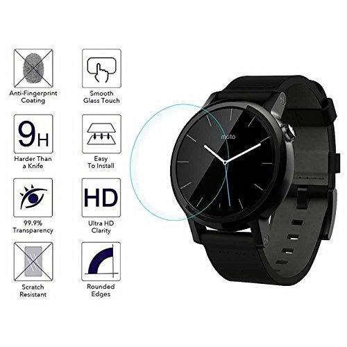 YANSHG® Für Motorola Moto 360 42mm/46mm 2nd Generation Watch gehärteter Glasschutz, Anti-kratzen Ultra Clear 9 Uhr gehärtetem Glas Protektor