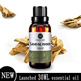Huile Essentielle De Bois De Santal (30 ml), Huile De Santal Aromatherapy 100%...