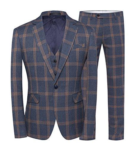 ig Anzüge Slim Fit Business Formale Blazer Hosen und Weste ()