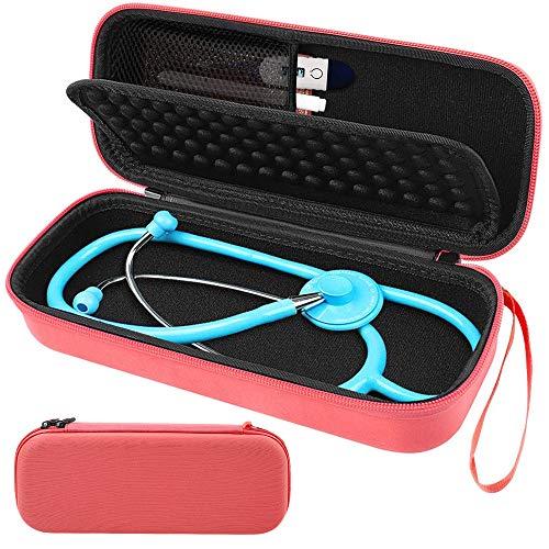 Stethoskop Hartschalenkoffer - Netztasche für Zubehör im Inneren. passend für Littmann Classic Stethoskop, Rotgold/Orange, Rose Gold Orange, 1 -