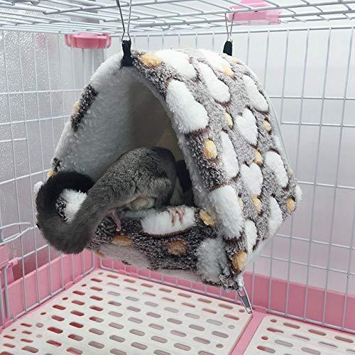 kingpo Caldo Appeso Inverno Cesto Amaca Cuccia Staccabile Sacco a Pelo di Coniglio cincill/à Piccolo Animale Domestico Nido Cotone Adatto per i Piccoli Animali di Peluche