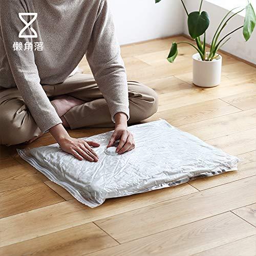 te Vakuum Compression Bag Single Pack große, mittlere und kleine Baumwolle Steppdecke pumpen Lagerung 65983, extra groß (120 * 100cm), transparent ()