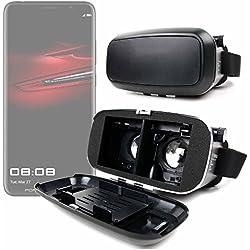 DURAGADGET Gafas de Realidad Virtual VR ajustables en color negro para Smarphones Smartphone Huawei P20, Huawei P20 Lite, ProHuawei Mate RS Porsche Design, Huawei P20 Pro + gamuza limpiadora.