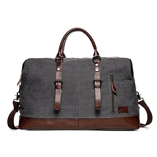Fresion Travel Duffel Bag Tote Satchel Handbag Trage Tasche Große Kapazitäts Beiläufige Handtaschen für Damen Herren (Grau)