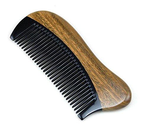 Cosanter Hornkamm Handgefertigter Kamm Antistatische Sandelholz hölzerne Haar Massage Kamm Breite Zähne aus kamm für Haar und Bartpflege (Misc.)
