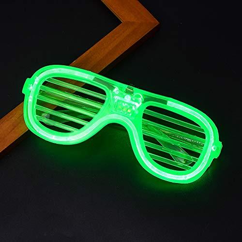 Relubby Neon Karneval GläSer, Kunststoff Shutter Flash GläSer, Kinder Erwachsene Karneval Halloween Disco Bar DJ Glowing Dekoration,Green