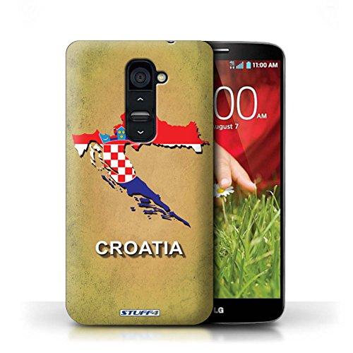 Kobalt® Imprimé Etui / Coque pour LG G2 / Pologne/Polonais conception / Série Drapeau Pays Croatie/Croate
