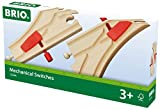 BRIO World 33344 - Mechanisches Weichenpaar