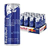 Red Bull Energy Drink, Heidelbeere, Blue Edition, 12er Palette (12 x 250 ml Dosen Getränke)