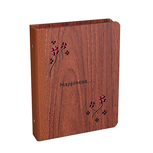 GladiolusA Fotoalbum Selbstgestalten Holz Scrapbook Album Fotoalben Bilderalbum Speicher Buch Für Valentinstag Hochzeit Geburtstag Jahrestag Weihnachten 13 * 17CM 16 Blätter(32 Seiten)