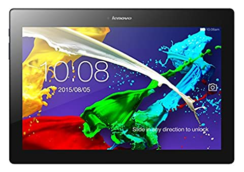 Lenovo TAB 2 A10-70 25,7 cm (10,1 Zoll Full HD IPS) Media Tablet (MediaTek MT8165 Quad-Core Prozessor, 1.5GHz, 2GB RAM, 16GB eMMC, 5MP + 8MP Kamera, Dolby Atmos Sound, Android 5.1) midnight