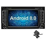 Ohok 7 Pouces écran Android 8.0.0 autoradio 2 Din Oreo Octa Core Stéréo 4G+32G Sat Nav avec Lecteur DVD Supporte GPS Bluetooth WLAN Dab+ OBD2 pour VW Touareg/VW Transporter/VW T5 Multivan