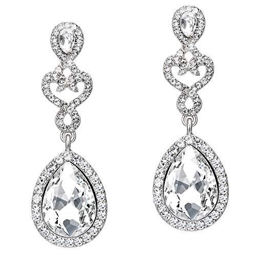 Coucoland 1920s Ohrringe Damen Retro Stil Perlen Dangle Ohrringe Inspiriert von Great Gatsby Damen Kostüm Accessoires (Stil 2-Silber) (Link Von Haarspray Kostüm)