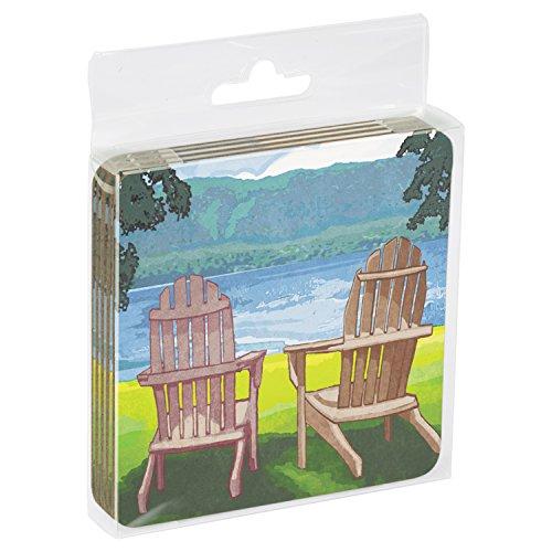 Adirondack-set (Tree Free Grußkarten 16094 9,5 x 9,5 cm,