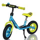 LCP Kids Laufrad Roller für Kinder ab 2 Jahren Luftreifen Ständer, Blau