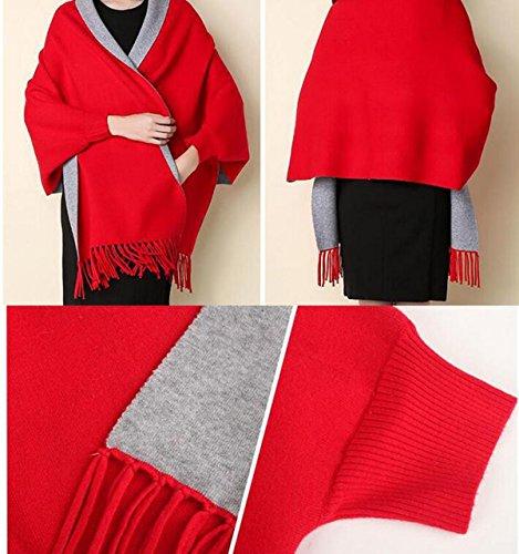 Plaid Blanket Scarf Femmes Big Square Long Écharpes Châle à Carreaux Chauds Chaud Glands Longs 1