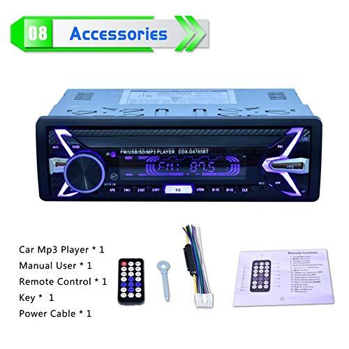 Auto-MP3-Player Bluetooth-Musikanruf FM-Radio Aux-Eingang Abnehmbarer Stereo-Media-Player Unterstützung U-Disk Secure Digital Card