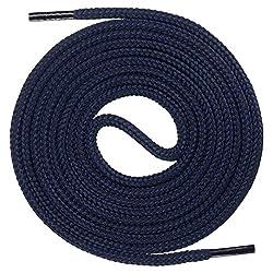 Mount Swiss runde Premium-Schnürsenkel für Business- und Lederschuhe - reißfester Allroundsenkel - ø 3mm - Farbe Dunkelblau Länge 70cm