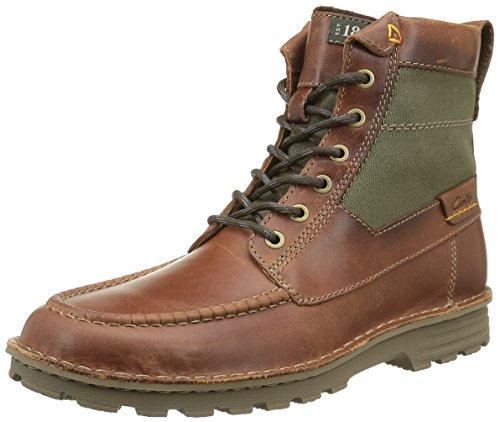 Clarks Sawtel, Stivaletti Uomo Marrone (Tan Leather)