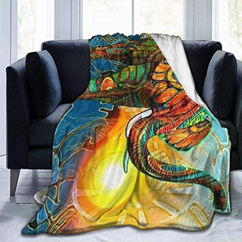 OUCUCK Kuscheldecken Überwürfe Elephant Painting Micro Twin Travel Size Extra Soft Comfortable Lightweight-Fall Winter All Season for Indoor Outdoor Gifts Size 50x40 in, 60x50 in, 80x60 in