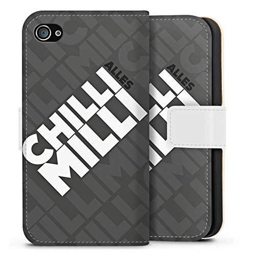 Apple iPhone X Silikon Hülle Case Schutzhülle LPmitKev Fanartikel Merchandise Alles Chilli Milli Grau Sideflip Tasche weiß