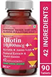 Carbamide Forte Biotin 10,000mcg with Keratin, Bamboo Extract, Amino Acids, Natural Extracts