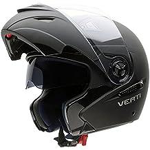 NZI 150207G093 Verti Casco de Moto, Color Goma Negro, Talla 54 (XS)