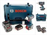 Bosch GDS 18 V-EC 250 Professional Akku Dreh Schlagschrauber mit L-Boxx, Schnellladegerät und 2x GBA 6 Ah Akku