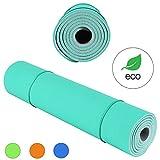 KeenFlex Grand Tapis de Yoga Premium épais et confortable, pour Pilates / Fitness / Sport / Gym / Ecologique et recyclables (Turquoise)