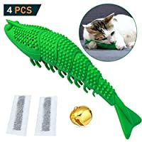 Aidiyapet Cat Catnip Toys,Interactive Cat Toothbrush Chew Toy for Kitten Kitty Cats Teeth Cleaning Dental Care, Crayfish Shape Pet Toy Cat