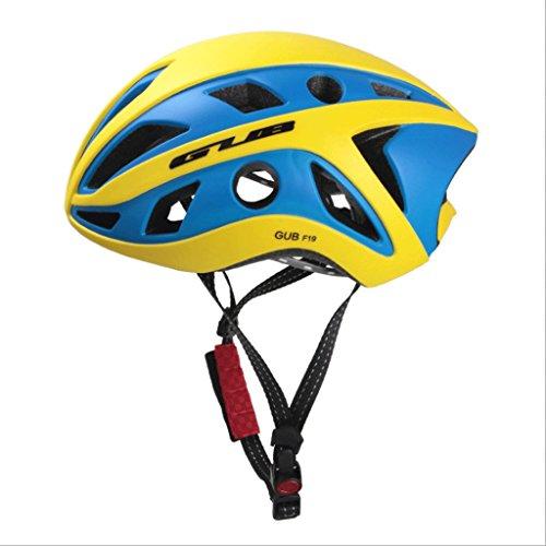 DGF Casque 3D Épais Doublé Avec Lumière Montagne Vélo Hommes Et Femmes Casque Intégré Avec Des Lunettes De Route Vélo Zéro Burden (Couleur : C)