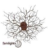 famlights Deckenleuchte Äste, 540 mm, rostbraun | Designer Deckenlampe aus Metall