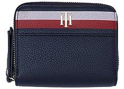 Tommy Hilfiger Damen Cool Hardware Dbl Zip M Wlt Corp Geldbörse, Schwarz (Corporate), 5x13x10 Cm
