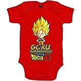 Body bebé Dragon Ball Goku superguerrero baby - Rojo, 12-18 meses