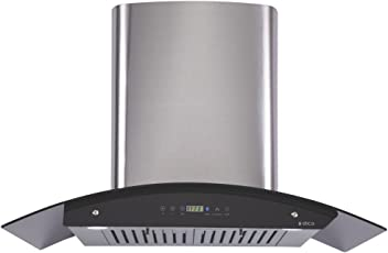 Elica 90 cm 1200 m3/hr Auto Clean Chimney (OSB HAC TOUCH BF 90, 2 Baffle Filters, Touch Control, Steel/Grey)
