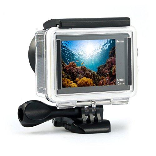 Expresstech @ 4K Action Kamera Unterwasserkamera Wasserdichte Tauch Cam DV Camcorder Full HD 1080P WiFi Action-Kamera Sport Action Camera Cam Wasserdicht 170 ° Weitwinkel mit Fernbedienung und Zubehör Kits für Tauchen Fahrrad fahren Motorrad fahren Outdoor-Aktivitäten Schwimmen Driften Surfen - 4