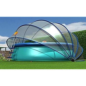 sunnytent rund gr e m 440 x 440 x 220 cm berdachung und windschutz f r schwimmbad von. Black Bedroom Furniture Sets. Home Design Ideas