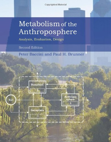 Metabolism of the Anthroposphere: Analysis, Evaluation, Design (Mit Press)
