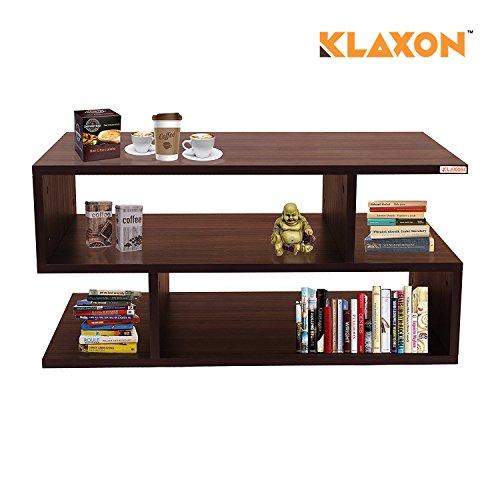 Klaxon S Shape Coffee Table (Matte Finish, Walnut)