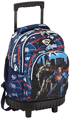 Batman & Superman Heroes Compact Carro Fijo, Color Azul