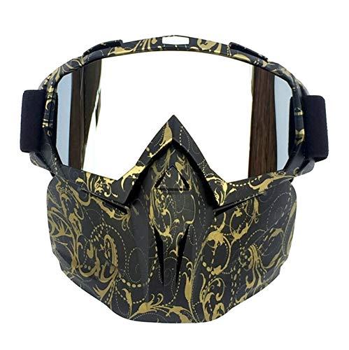 Bishilin Motorrad Brille Nacht Bronze Silber Schneebrille Arbeitsbrille Für Brillenträger Schutzbrille