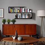 #3: Klaxon Home Decor Wall Shelves / Book Shelf And Storage | Wall Shelves Wooden S Shape - (Black,Matte Finish) (Do It Yourself – DIY)