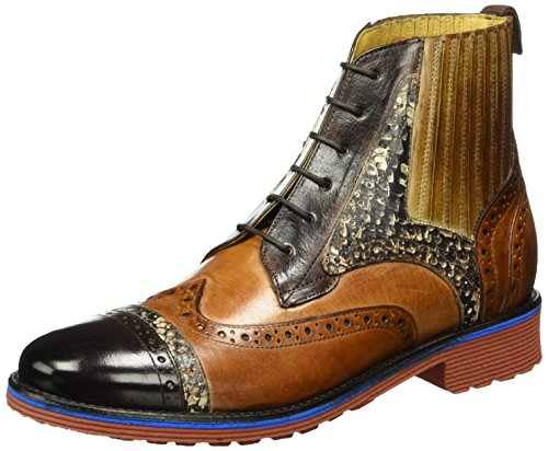 Melvin & Hamilton Amelie 17, Bottes Classiques femme Multicolore - Mehrfarbig (Classic Dk.Brown, Wood, Tan, Camel/italian Snake Dk.Brown/Rook D Red+Eva)