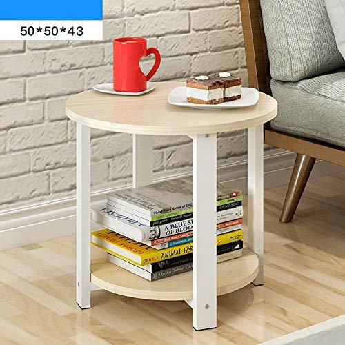 Couchtisch, runder kleiner runder Tischständer, 50 * 50 * 43 cm, 60 * 60 * 43 cm (4 Farben) (Farbe : C, größe : 50 * 50 * 43CM)