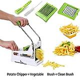 Wietus kartoffel slicer bundle beinhaltet 3-in-1 obst-pinsel+sauber putzen gemüse+kartoffel munter