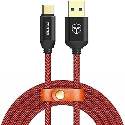 Câble USB Type C à USB 3.0 [2m/6.6ft] Câble USB C Nylon Tressé en Fibre - Garantie à Vie - Charge / Synchro Ultime Rapide pour Samsung Galaxy S8 / A3/5 (2017) / A7 / A9 / C5/7 pro / C9 / Oneplus 2/3/3T / Huawei P9 / Nexus 5X/6P / Xiaomi / Meizu / Macbook