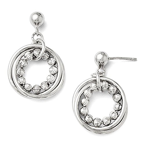 Leslies SS lucido e diamanti taglio post ciondola gli orecchini del cerchio