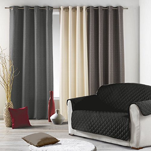 Douceur-dIntrieur-Protge-Canap-Matelasse-Microfibre-Unie-Club-Polyester-Noir