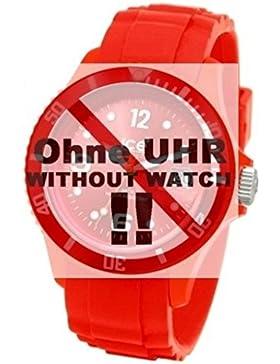 Ice-Watch Uhrband Wechselarmband Original Ersatzband SI S.09 Uhrenarmband Silikon 17 mm Rot